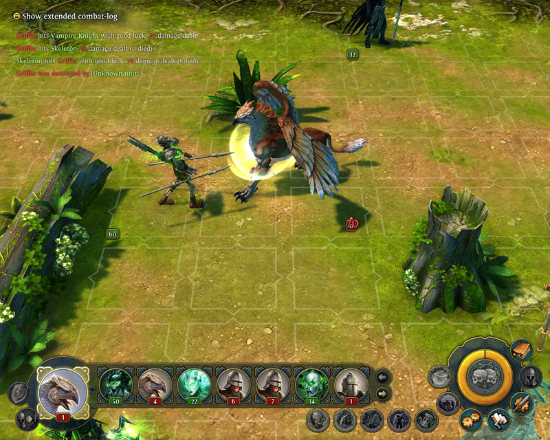 Might and Magic Heroes VI - Skelett in game