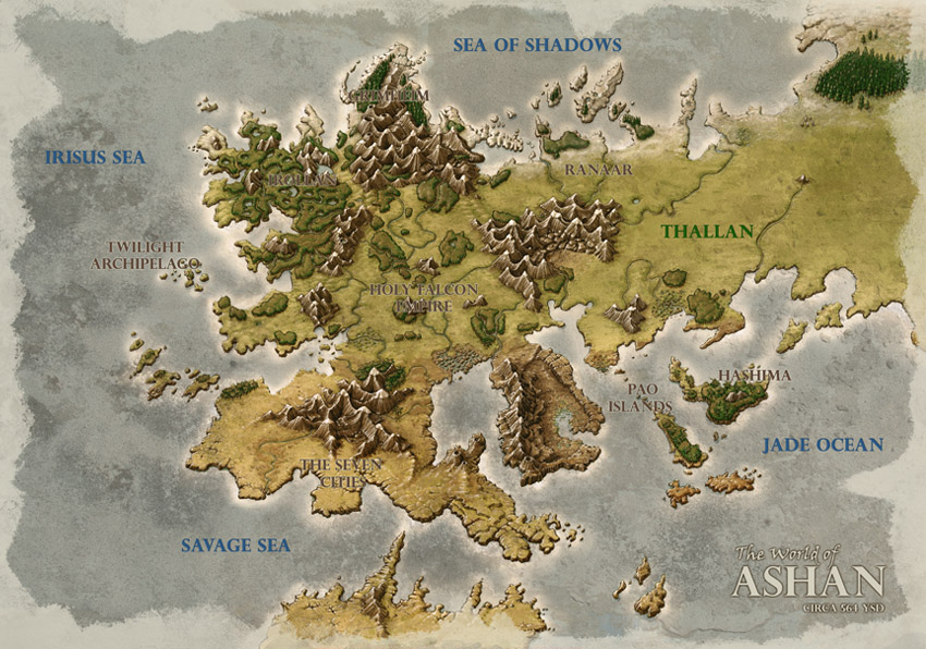 Might and Magic Heroes 6 - Map of Ashan