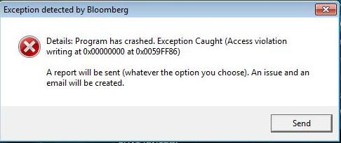 15882 - Exception detected by Bloomberg