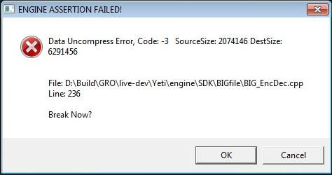 15985 - Engine Assertion Failed