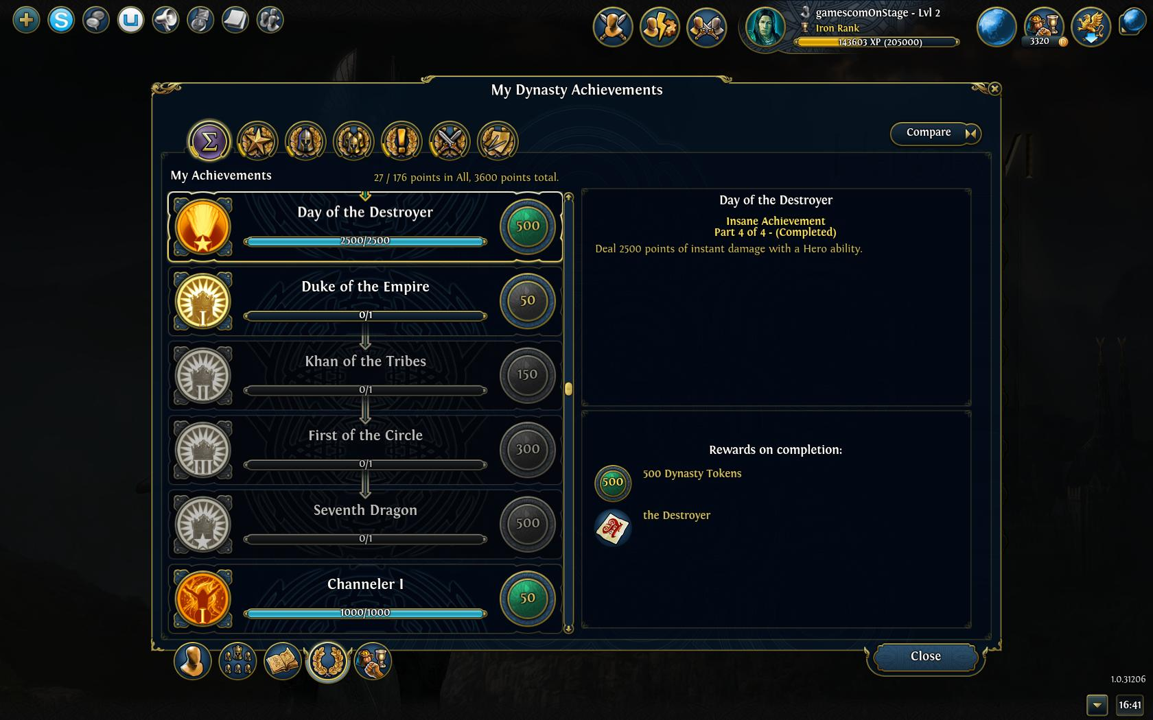 Conflux achievements 1