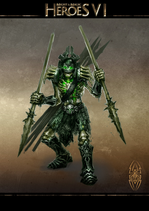 Might and Magic Heroes VI - Skeletal Spearman