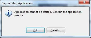 16388 - Application cannot be started [370*158]