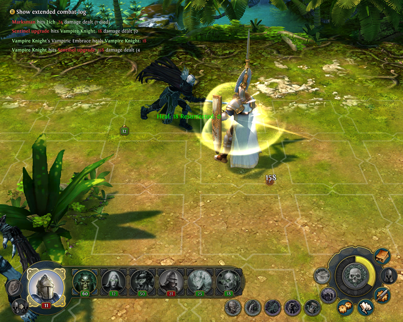 Might and Magic Heroes VI - Vampiro in game
