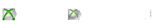 Xbox One + Xbox 360 + Xbox Live Lockup (Trans/White)