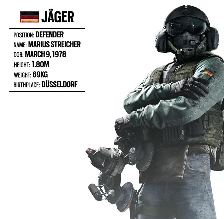 OPERATOR SPOTLIGHT 16 JGER GERMAN UNIT Rainbow Six