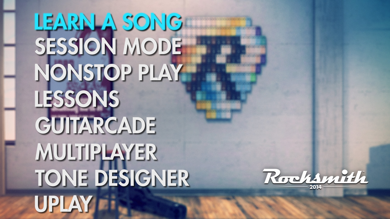 Rocksmith main screen