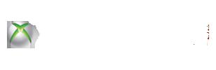 Microsoft XBox 360 + xbox live (transparent bg + white text + white live logo)
